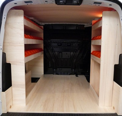 am nagement et rangement bois ford transit connect court kitwood. Black Bedroom Furniture Sets. Home Design Ideas