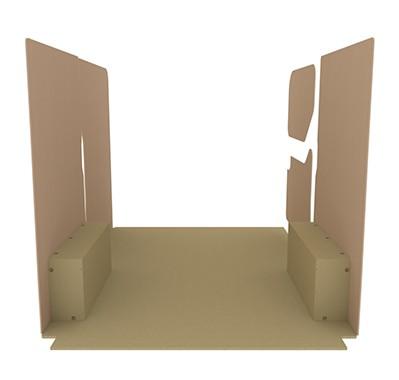 Kit d 39 habillage bois eco pour le fourgon renault master l1h1 kitwood - Kit d habillage pour bati de porte ...