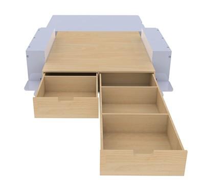 Kitwood - Double plancher avec tiroirs pour véhicule utilitaire