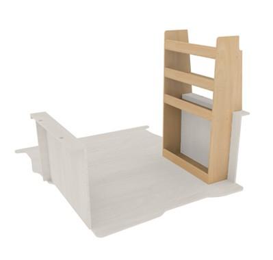 Casier contreplaqué avec étagère pour véhicule utilitaire