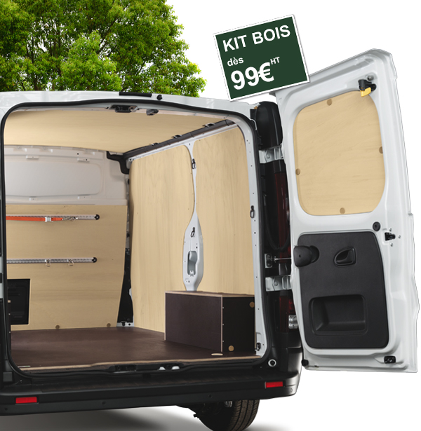 kit protection bois pour v hicule et camion utilitaire kitwood. Black Bedroom Furniture Sets. Home Design Ideas