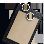 Aggloméré filmé et contreplaqué bois pour habillage utilitaire
