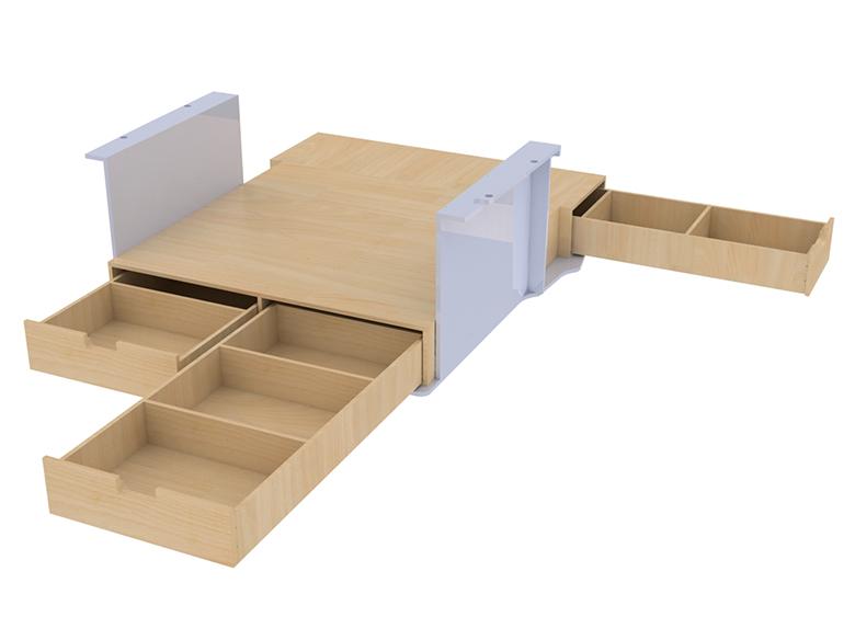 Double plancher vehicule utilitaire fourgon camion